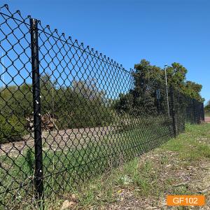 Забор звена цепи с покрытием из ПВХ